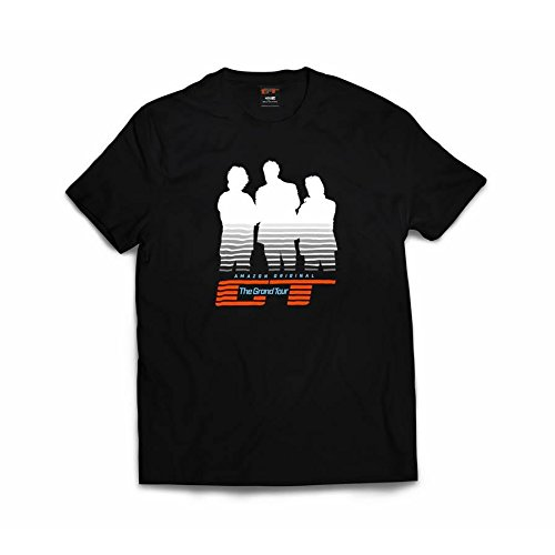 New! Official 'The Grand Tour' Presenters Silhouette T-shirt. Black. XX-Large