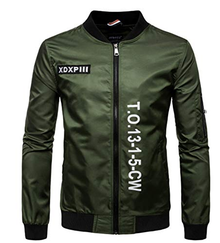 Rising ON fashion-sweatshirts Jacket Men Waterproof Jacket Letter Print Men's Jacket Jackets,Army,XXXL (Yamamoto Print)