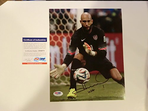 Tim Howard Rare! signed USA Soccer World Cup 8x10 photo PSA/DNA - Soccer 8x10 World Cup Photo