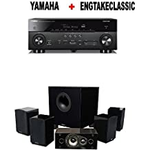 Yamaha AVENTAGE RX-A780 7.2-ch 4K Ultra HD AV Receiver with HDR + Energy 5.1 Take Classic Home Entertainment System (Set of Six, Black) Bundle