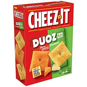Cheez-It Duoz Baked Snack Crackers - Sharp Cheddar & Parmesan 12.4 oz. (Pack of 2)