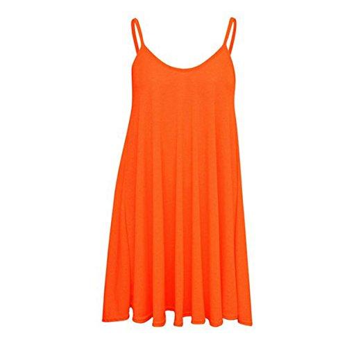 orange cami dress - 4