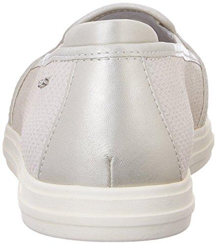 Geox D Amalthia D, Bailarinas para Mujer Blanco - Blanc (Off Blanc/Silver)