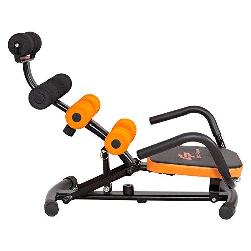 Goplus Abdominal Twister Trainer Height Adjustable Incline Workout Equipment Ab Rocket Exerciser