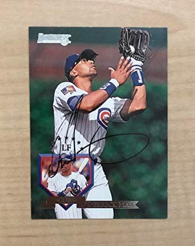 DERRICK MAY CHICAGO CUBS SIGNED AUTOGRAPHED 1995 DONRUSS CARD #441 W/COA