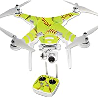 MightySkins Protective Vinyl Skin Decal for DJI Phantom 3 Professional Quadcopter Drone wrap cover sticker skins Softball Collection