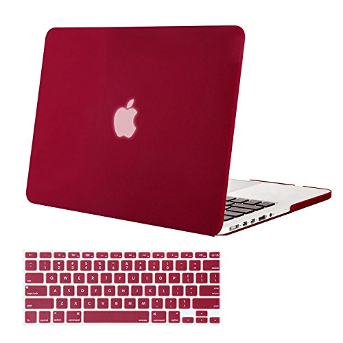 UPC 739615769360, Mosiso Plastic Hard Case with Keyboard Cover for Macbook Pro 13 Inch with Retina Display (Models: A1502 and A1425), Wine Red