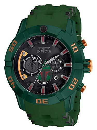 (Invicta Men's Star Wars Stainless Steel Quartz Watch with Polyurethane Strap, Green, 26 (Model: 26546)