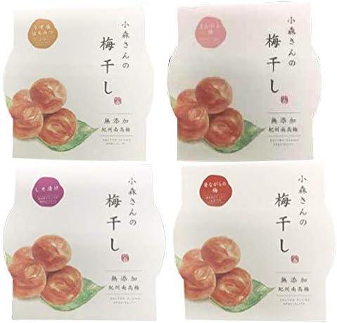 梅歌園 梅ギフト4種×各1Pセット 食品添加物無添加 紀州南高梅