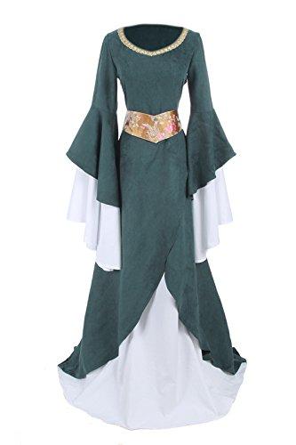 Kleid Damen Kleid Kostüm Langarm Nuoqi GC218A Party Mittelalterliche NI Maxi Königin FBA A1Y16wS