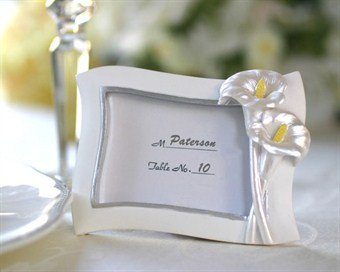 Swaying Calla Lily Pearlescent Place Card/ Photo Frame - Baby Shower Gifts & Wedding Favors ()