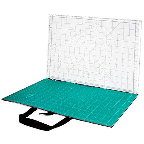 - Quilting Cutting and Ironing Pressing Mat - Portable Foldaway Quilter's Station - Gridded Ironing and Pressing Pad