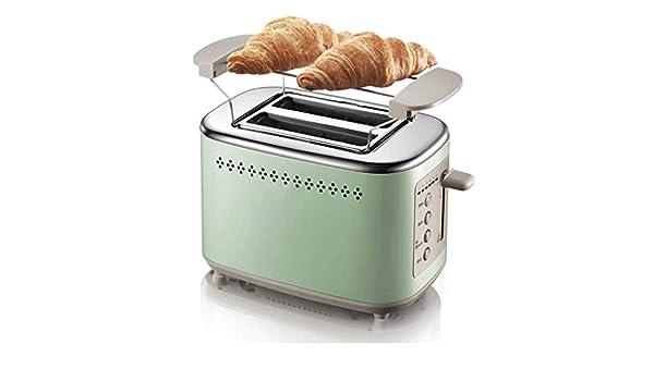 GSAGJmbj Desayuno máquina sándwich de máquina a la Parrilla Tostadora Tostadora Controlador Cuerpo de Acero Inoxidable Calentador Grill (Color : Green): Amazon.es