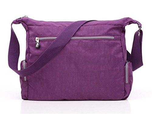 cremallera Bolsa Khaki Nailon Casual Mujer A1 de Bag Messenger tianhengyi con Bolso bolsillos hombro Ligero Bandolera W7qpX4