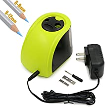 BTSKY® Automatic Electric Pencil Sharpener with 2 Different Sizes of Holes--Both Electronic and Battery Operated (Green)