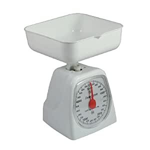 Peachtree Mechanical Kitchen Scale 5000 Grams White 1.0 ea