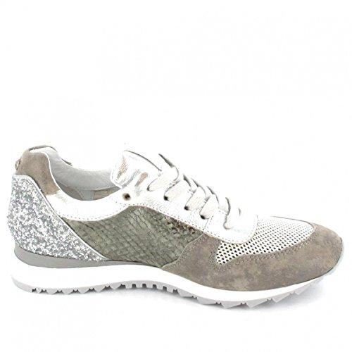 Donna Carolina Sneaker , Farbe: metallic/grau