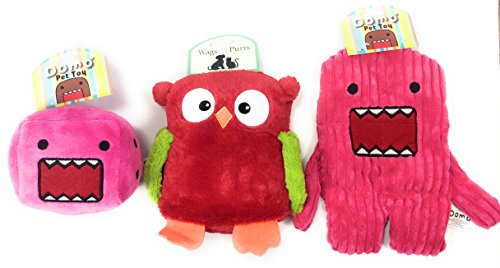 Domo and Wags & Purrs Plush Pet Dog Squeaker Squeaky Chew Th