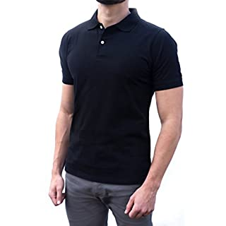 Men's stylish black Polo shirt