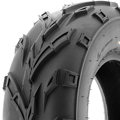 SunF A004 ATV Golf Carts Off-Road Tire 16x6-8, 6 PR, Track & Trail, Tubeless