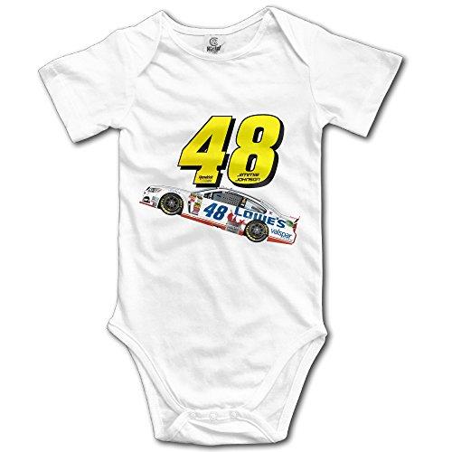 Newborn Jimmie Johnson 48 Logo Cute Romper Bodysuits