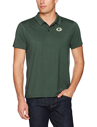 (NFL Green Bay Packers Men's OTS Sueded Short Sleeve Polo Shirt, Dark Green, X-Large)