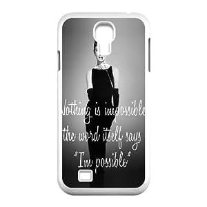 Audrey Hepburn Quotes Unique Design Cover Case for SamSung Galaxy S4 I9500,custom case cover ygtg-780890