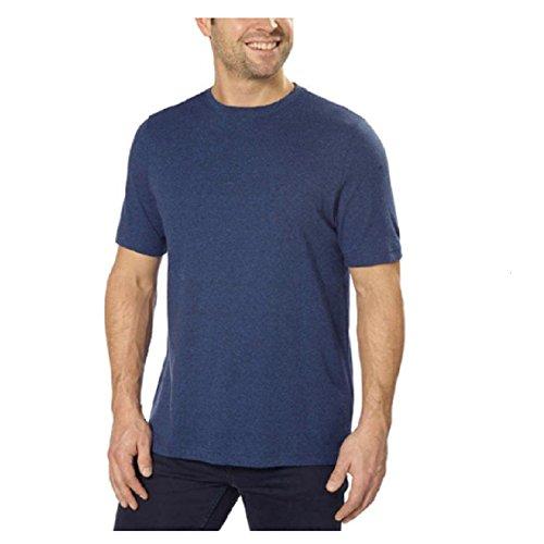 - Men's 100% Peruvian Pima Cotton Short Sleeve Crew Neck T-Shirt Slate Gray Medium