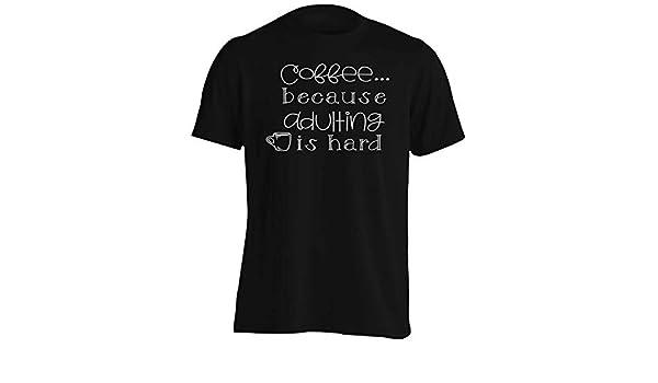 INNOGLEN Coffee Because Adulting is Hard Mens T-Shirt Tee gg198m