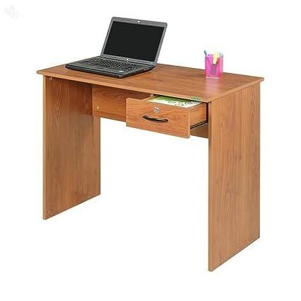 Mavi Study Table Single-Drawer With Natural Finish - Matrix (ZU-653)