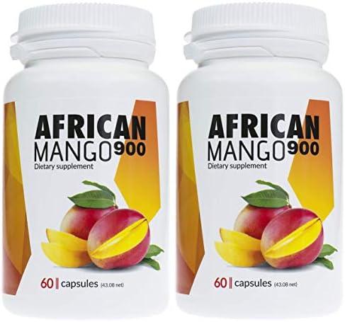 ✅AFRICAN MANGO Premium Schlankheitsmittel, 2er Pack 2x900mg hochdosierter Mangoextrakt, enorme Fettverbrennung...