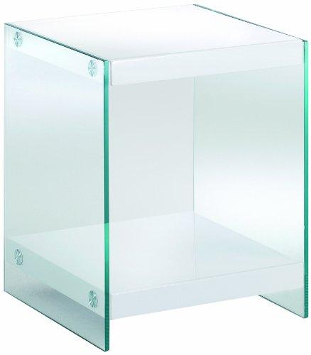 HAKU Möbel 87393 Beistelltisch 35 x 35 x 45 cm, weiß
