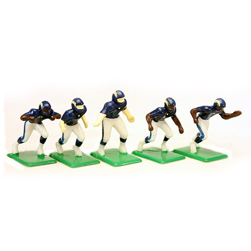 Uniform San Chargers Diego (Tudor Games 4-08-D NFL Home Jersey - San Diego Chargers Alternate Uniform 11 Electric Football Players, Multicolor (Pack of 11))