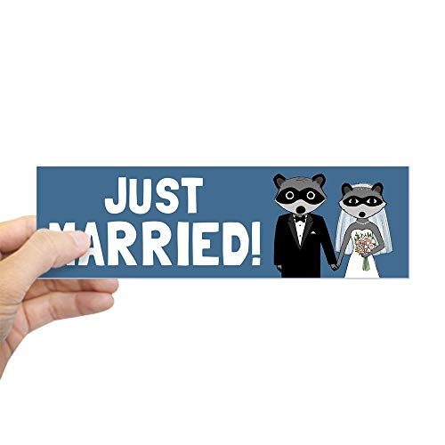CafePress Just Married Raccoons 10