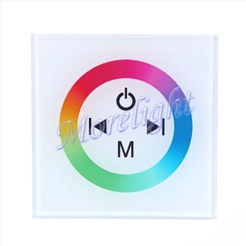 MORELIGHT Wall mount controller for RGB 4pin LED Touch Panel Control Dimmer DC12-24V LED Strip Lighting 5050 3528 (white)