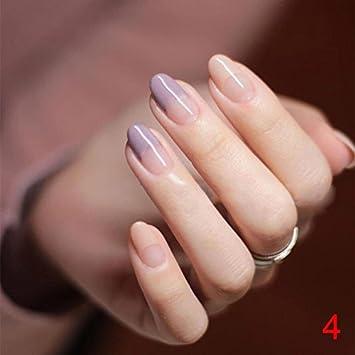Amazon Com Lznlink 24 Pcs Set Fake Nails With Glue Artificial Tips