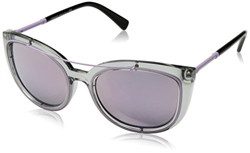 Versace Women's VE4336 Transparent Grey/Pink - Sunglasses Purple Versace