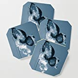 Society6 Drink Coasters, Silent Dance by forgottenbeauty, set of 4