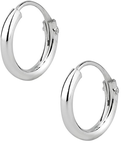 Hypoallergenic Sterling Silver Tiny 8mm (5/16 Inch) Hoop Earrings for Babies and Girls Ages 5 & Under