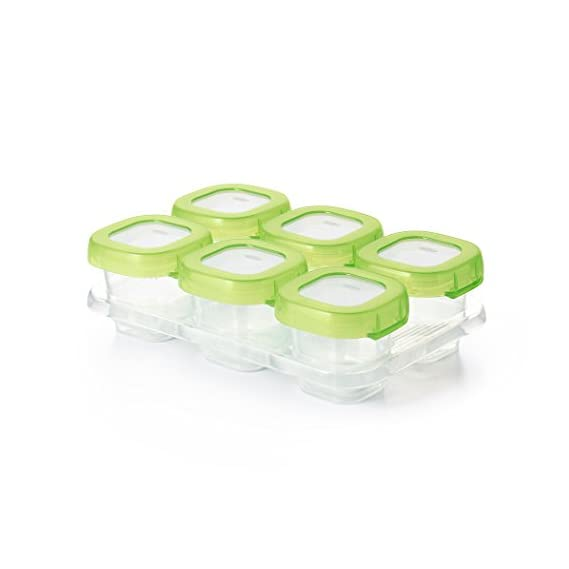 OXO Tot Baby Blocks Freezer Storage Container, 2oz (Multicolour)-Pack of 6