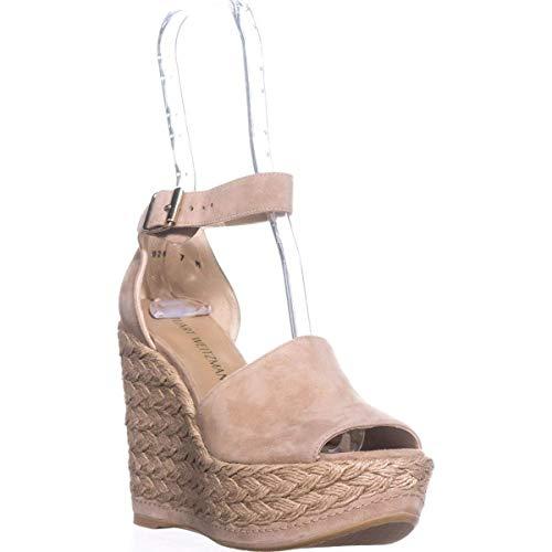 Stuart Weitzman Sohojute Ankle Strap Platform Sandal in, Beige, Mojave, Size 7.0
