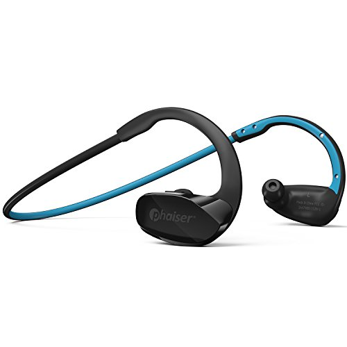 Phaiser BHS-530 Bluetooth Headphones, Wireless Earbuds Stereo Earphones for Running with Mic and Lifetime Sweatproof Guarantee, Oceanblue (Motorola S11 Case)