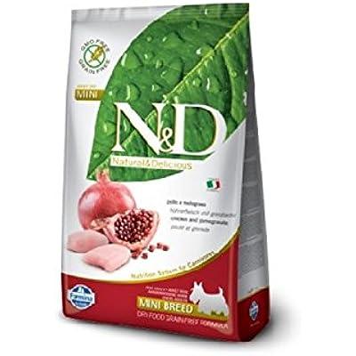 Farmina Natural And Delicious Chicken Grain-Free Formula Dry Dog Food, 15.4-Pound