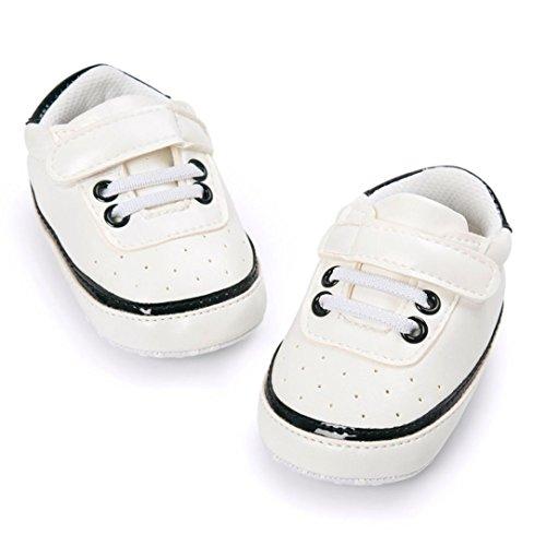 Hunpta Kleinkind Baby Bindung Weiche Schuhe Krippe Fußbekleidung Baby Jungen Mädchen beiläufige Schuhe Schwarz