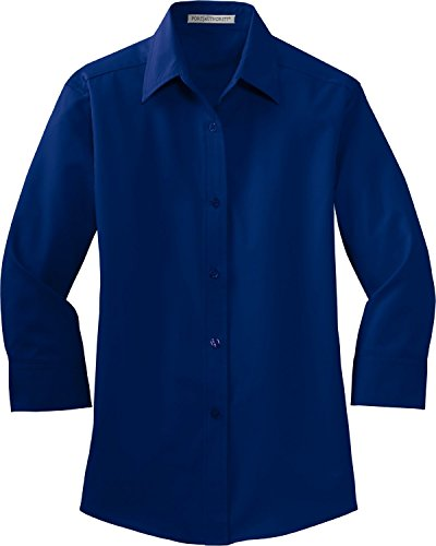 Port Authority Women's 3/4, Sleeve Easy Care Shirt, mediterranean blue, XXX-Large