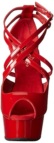 Pleaser DELIGHT-612 Red/Red Size UK 9 EU 42