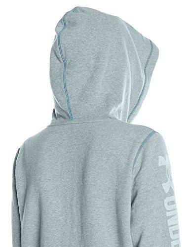 Blu Felpa Donna Favorite White Teal 1283255 Full Nova 861 Under Zip Fleece Armour YF8n08