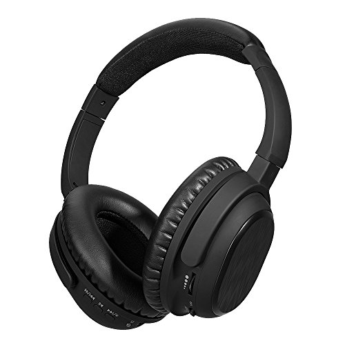Active Noise Cancelling Bluetooth Headphones, HiFi Stereo Wireless Over-ear Swiveling ANC Headset with Aptx and Mic for TV, Airplane, all 3.5mm jack Devices, 30 Hours Playback – Black Review