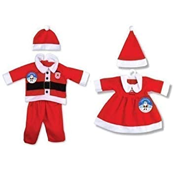 UK Christmas Xmas Baby Clothes Santa Claus Fancy Dress Kids Costume Suits