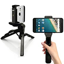 """iGadgitz 2 in 1 Pistol Grip Stabilizer and Mini Lightweight Table Top Stand Tripod with Phone Bracket Mount for Apple iPhone 6 6S 4.7"""" 5 5S 4HD 4S"""